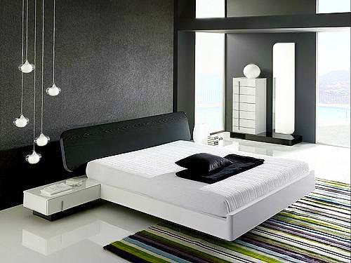 Black and White Contemporary Bedroom Interior Design - Nazmiyal
