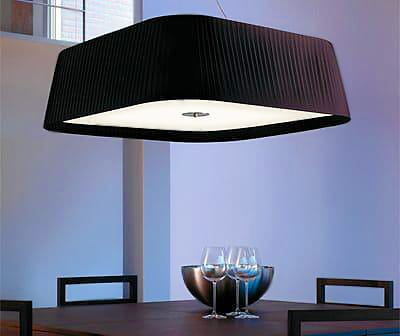 Brown Pleated Pendant Lighting Fixture - Nazmiyal