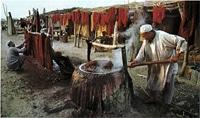 Крашение шерсти для персидских ковров