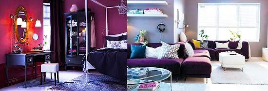 Eggplant / Purple Fall Trending Interior Design Color Palettes - Nazmiyal