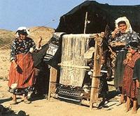 Семья ткачества персидский ковер