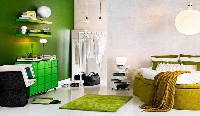 Vibrant Color Interior Design Trends by Nazmiyal