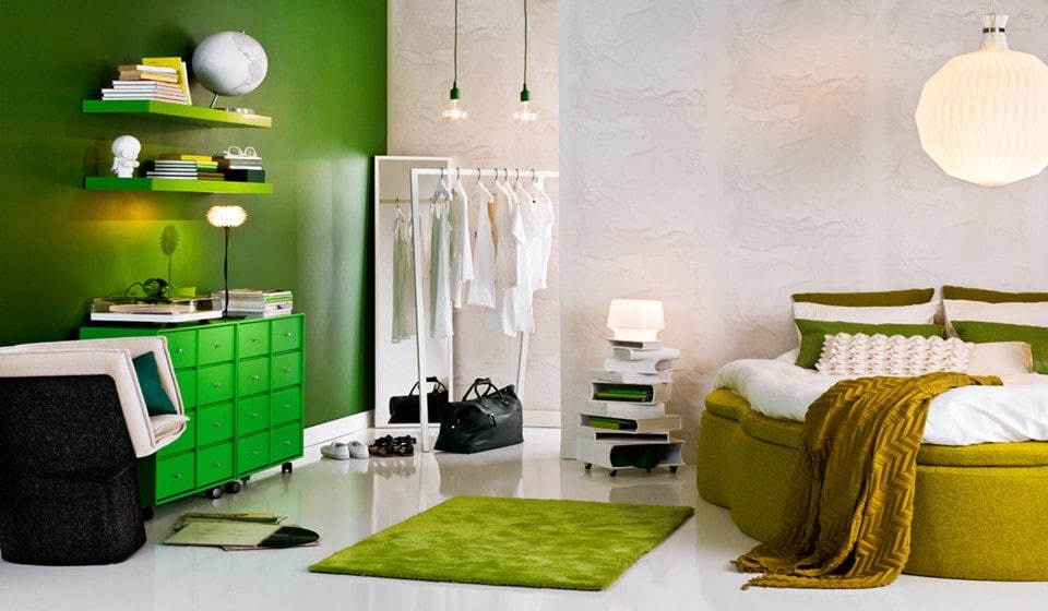 Interior Design Trends in Greenery and Crazy Colors