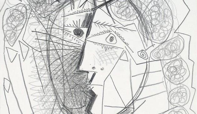 Stolen Picasso Tete De Femme Artwork - Nazmiyal