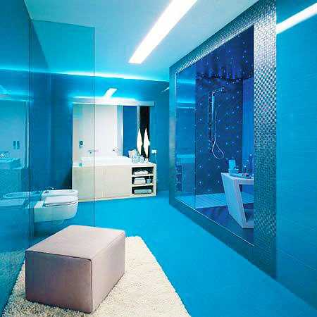 Tiffany Blue Bathroom interior Design by Namziyal