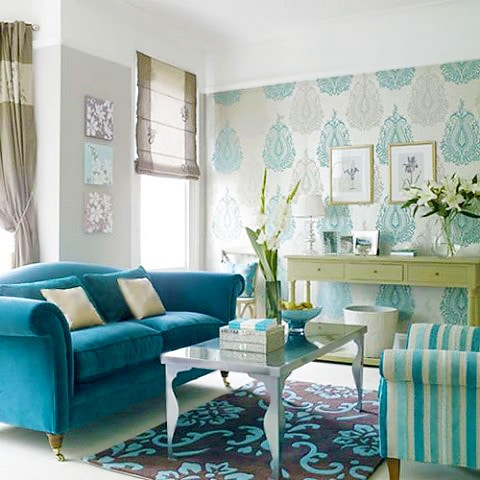 Tiffany Blue Home Decor Interiors by Nazmiyal