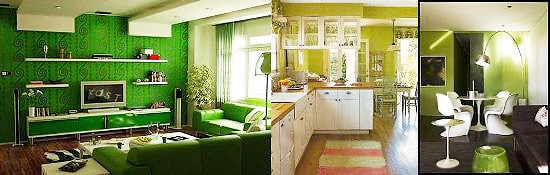 Green / Kiwi Trending Interior Design Color Palettes -Nazmiyal