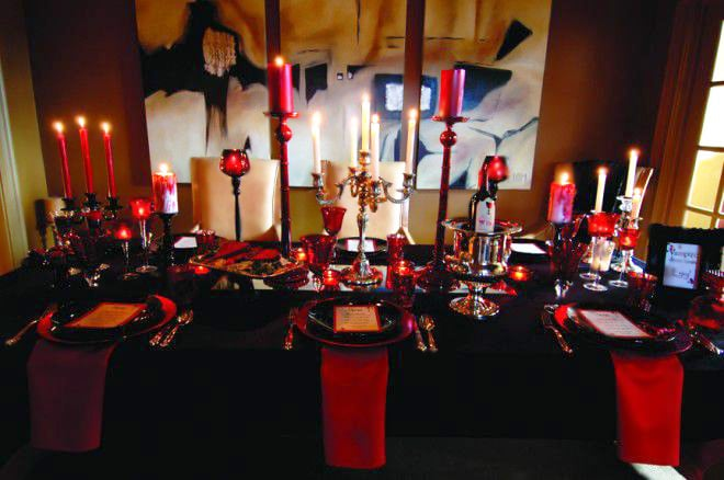 Vampire Dining Room Decor by nazmiyal