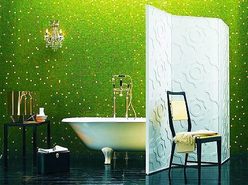Vibrant Green Colored Bathroom Interior Design - Nazmiyal