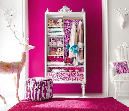 Vibrant Magenta Color Bedroom Interior Design - Namziyal