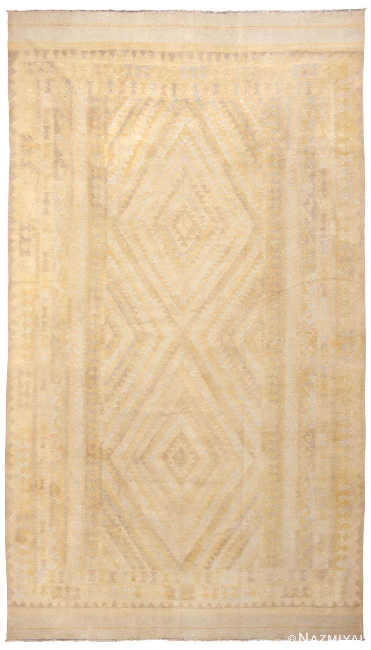 Antique Dhurry Indian Rug 44919 Detail/Large View