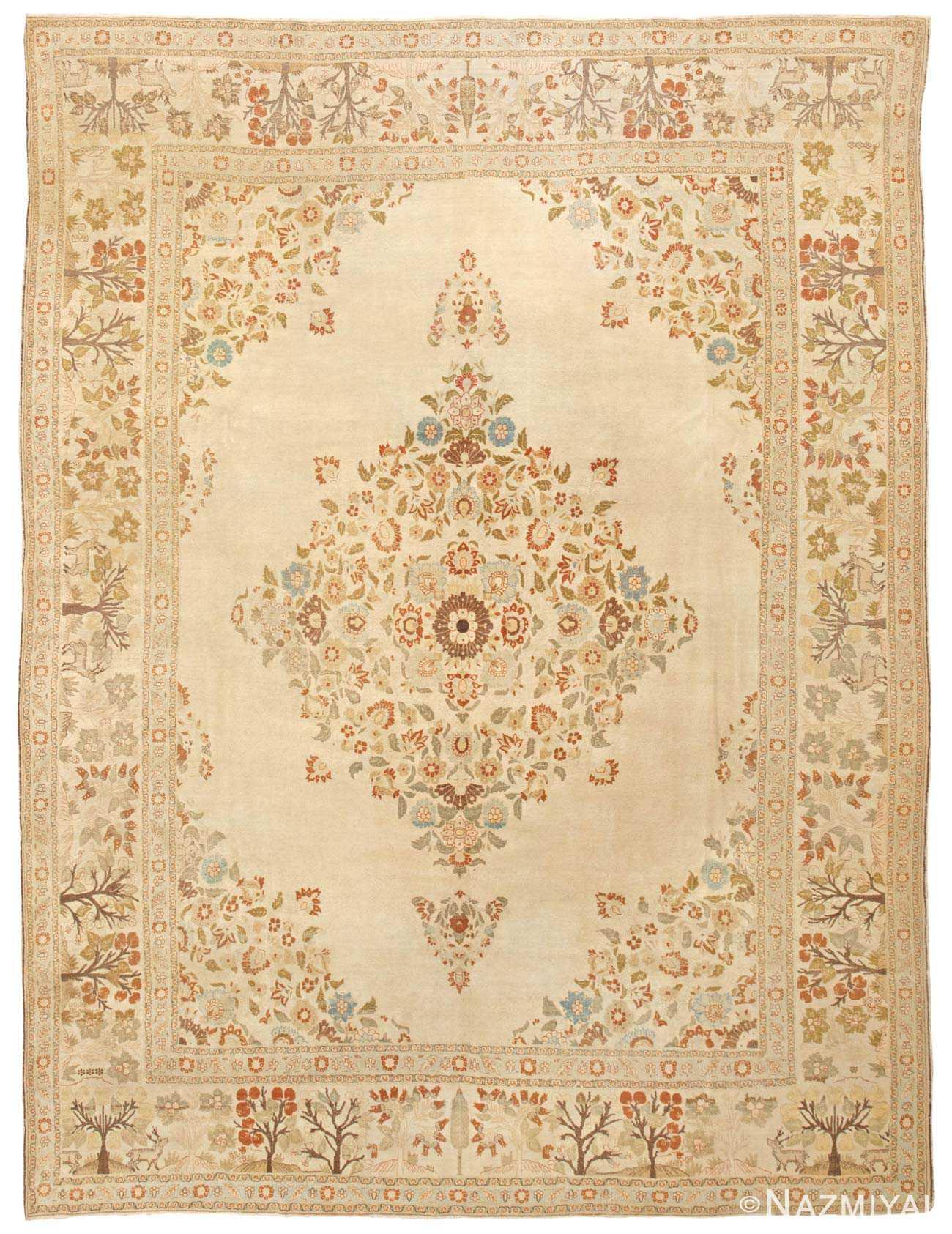 Antique Tabriz Persian Rug 45088 Detail/Large View
