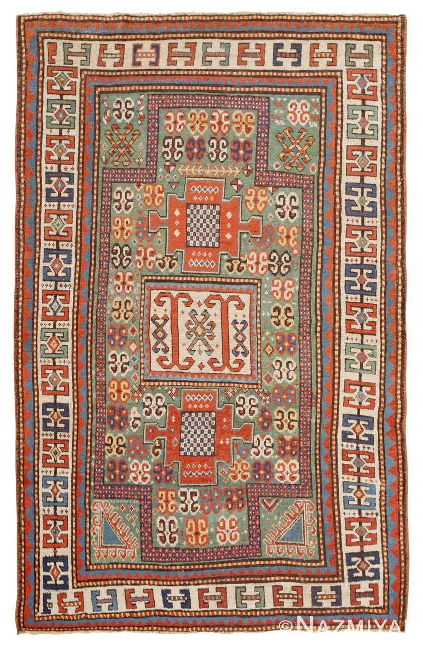 Antique Kazak Caucasian Rug 45191 Detail/Large View