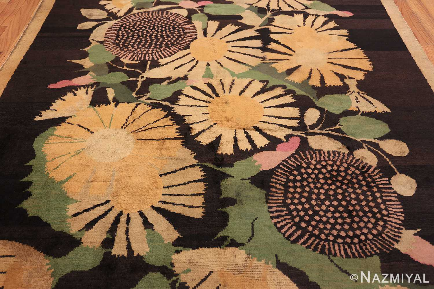 antique french art deco rug 45131 field Nazmiyal