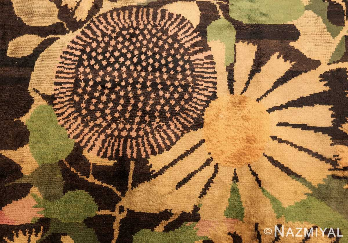 antique french art deco rug 45131 sunflower Nazmiyal