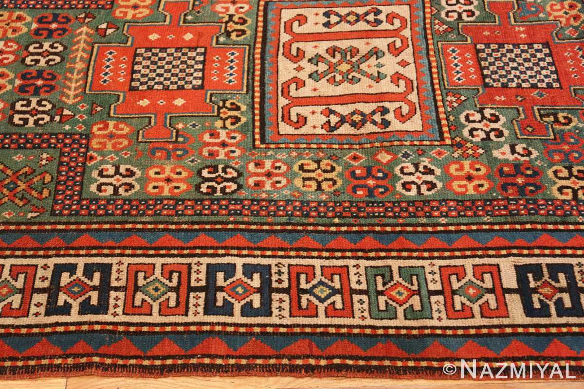 Border Antique Kazak Caucasian rug 45191 by Nazmiyal