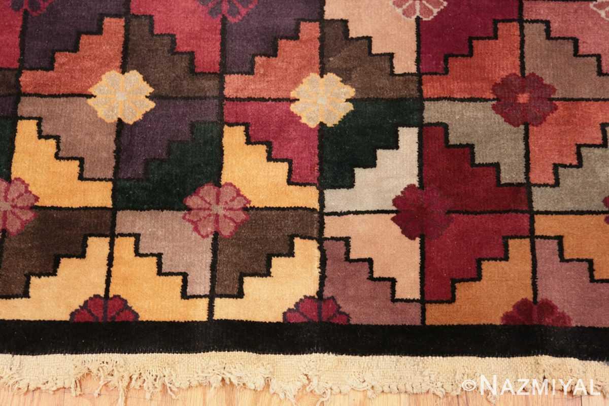 Border Chinese Deco rug 45192 by Nazmiyal