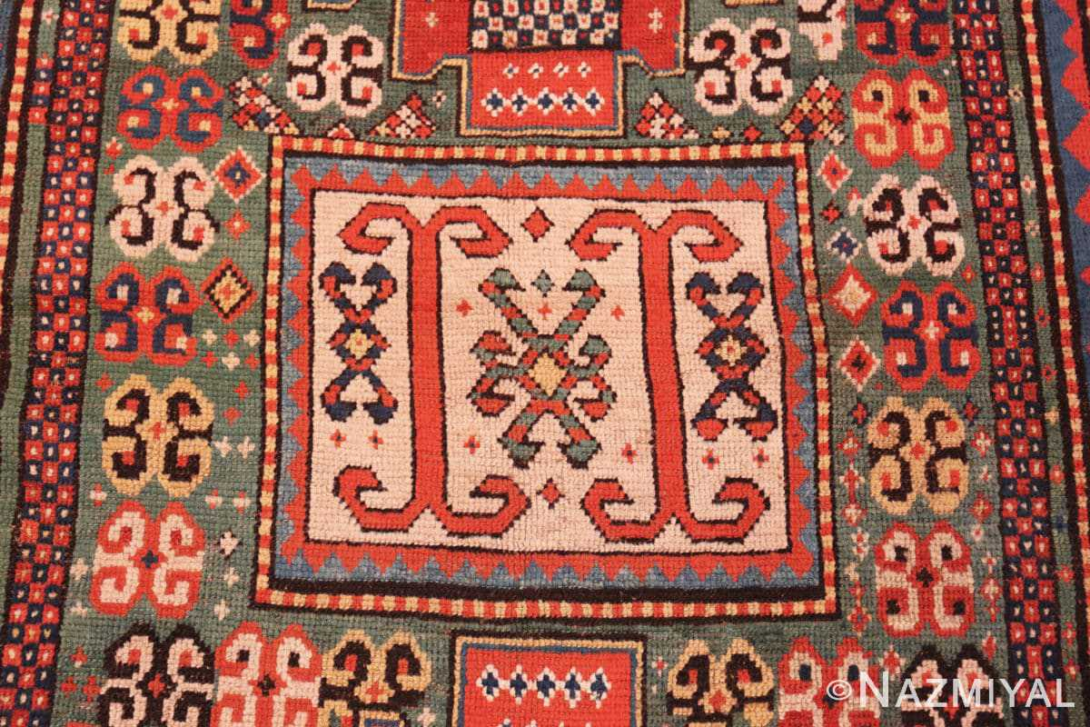 Detail Antique Kazak Caucasian rug 45191 by Nazmiyal