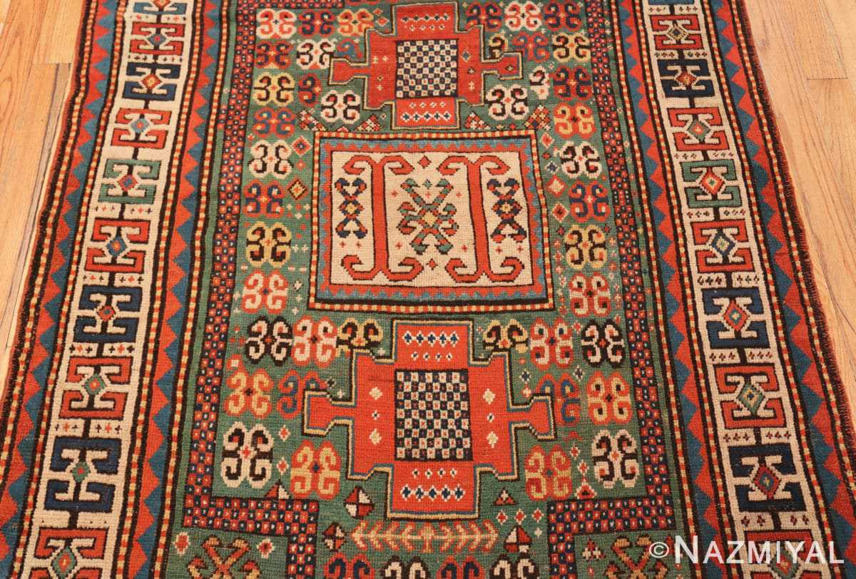 Field Antique Kazak Caucasian rug 45191 by Nazmiyal