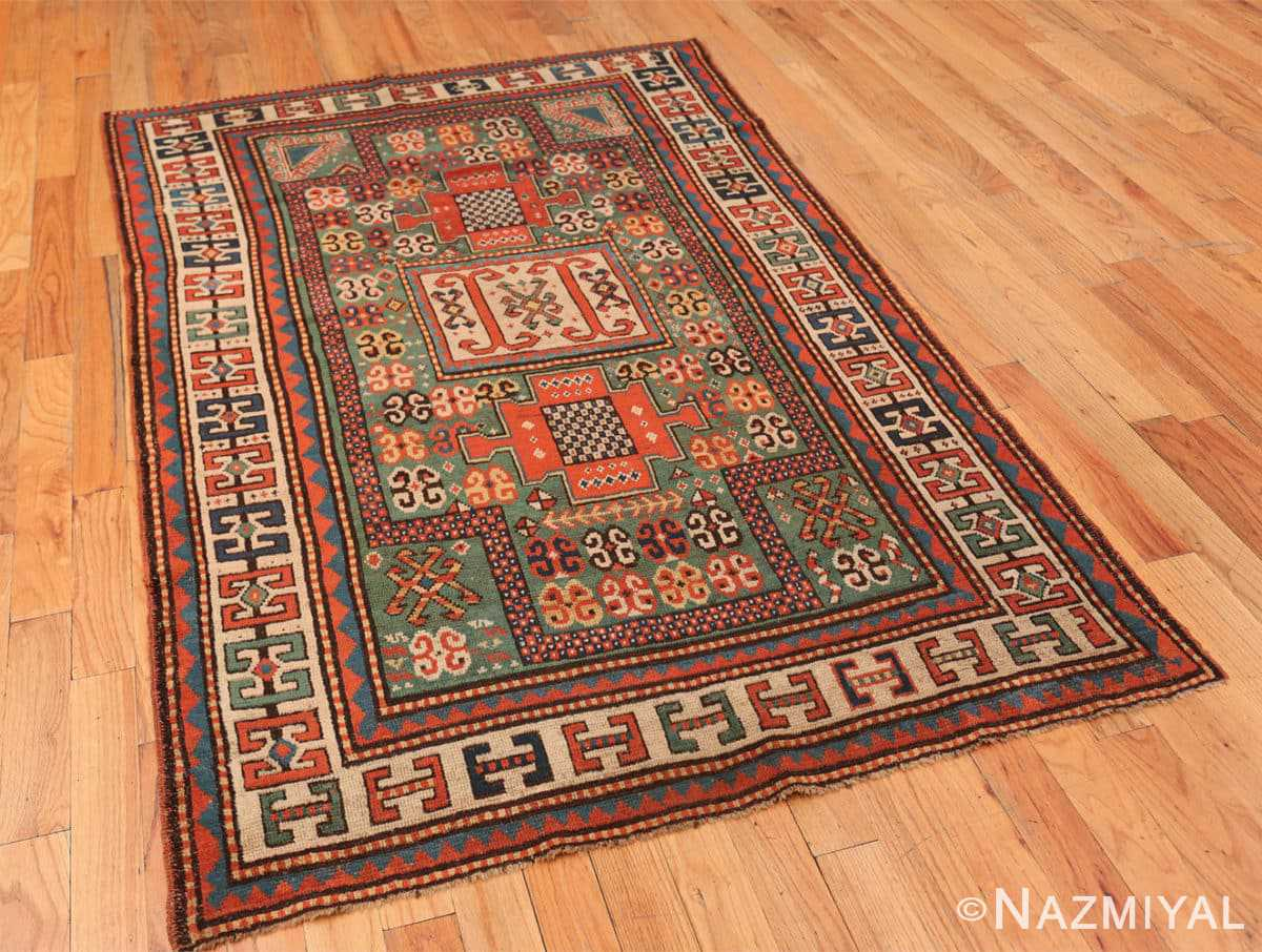 Full Antique Kazak Caucasian rug 45191 by Nazmiyal