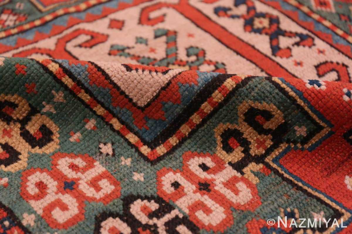 Pile Antique Kazak Caucasian rug 45191 by Nazmiyal