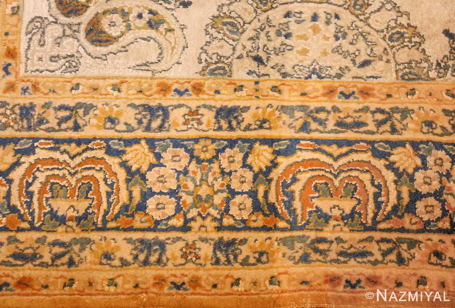 vintage mid century indian rug 45166 border Nazmiyal