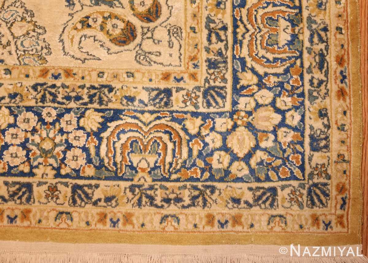 vintage mid century indian rug 45166 corner Nazmiyal