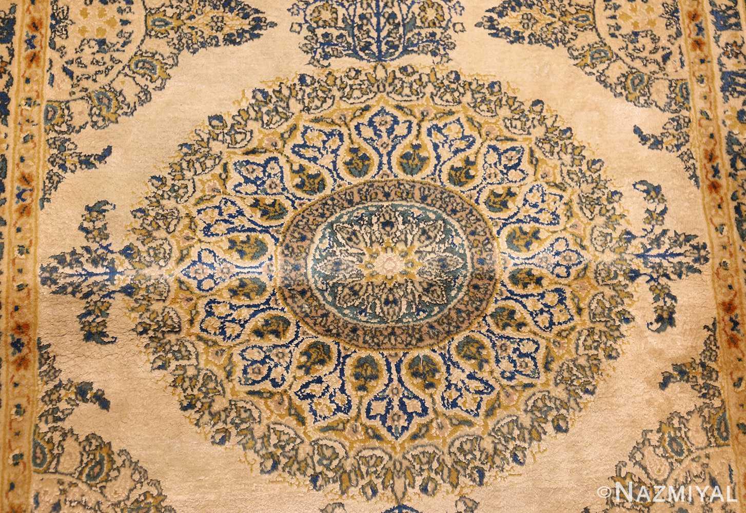 vintage mid century indian rug 45166 medallion Nazmiyal