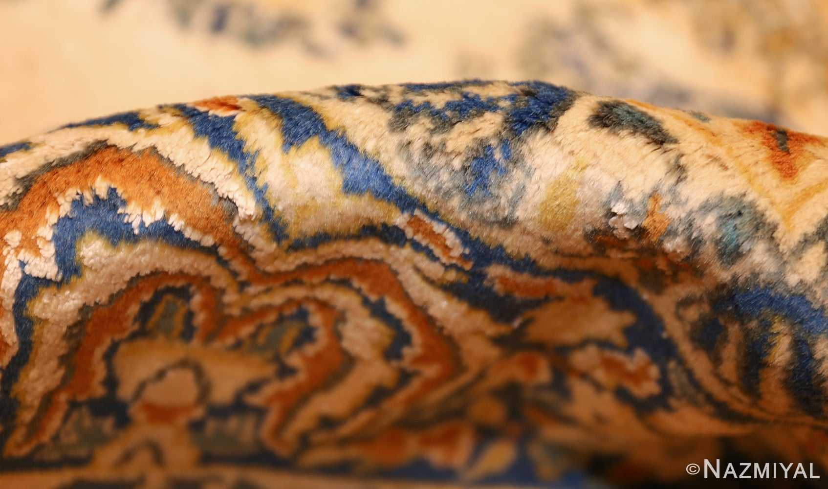 vintage mid century indian rug 45166 pile Nazmiyal