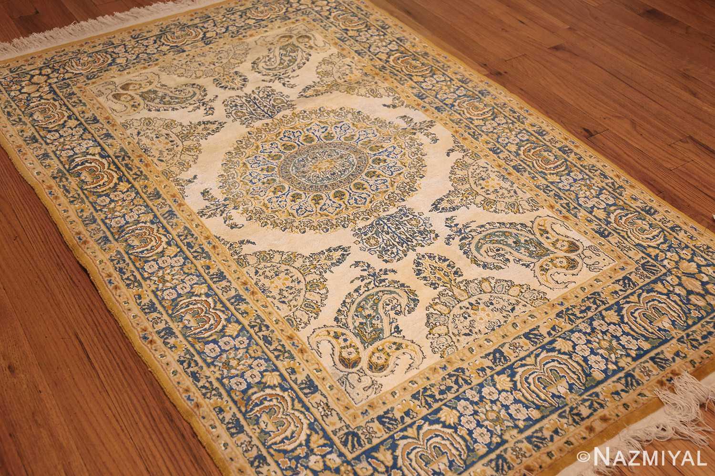 vintage mid century indian rug 45166 side Nazmiyal