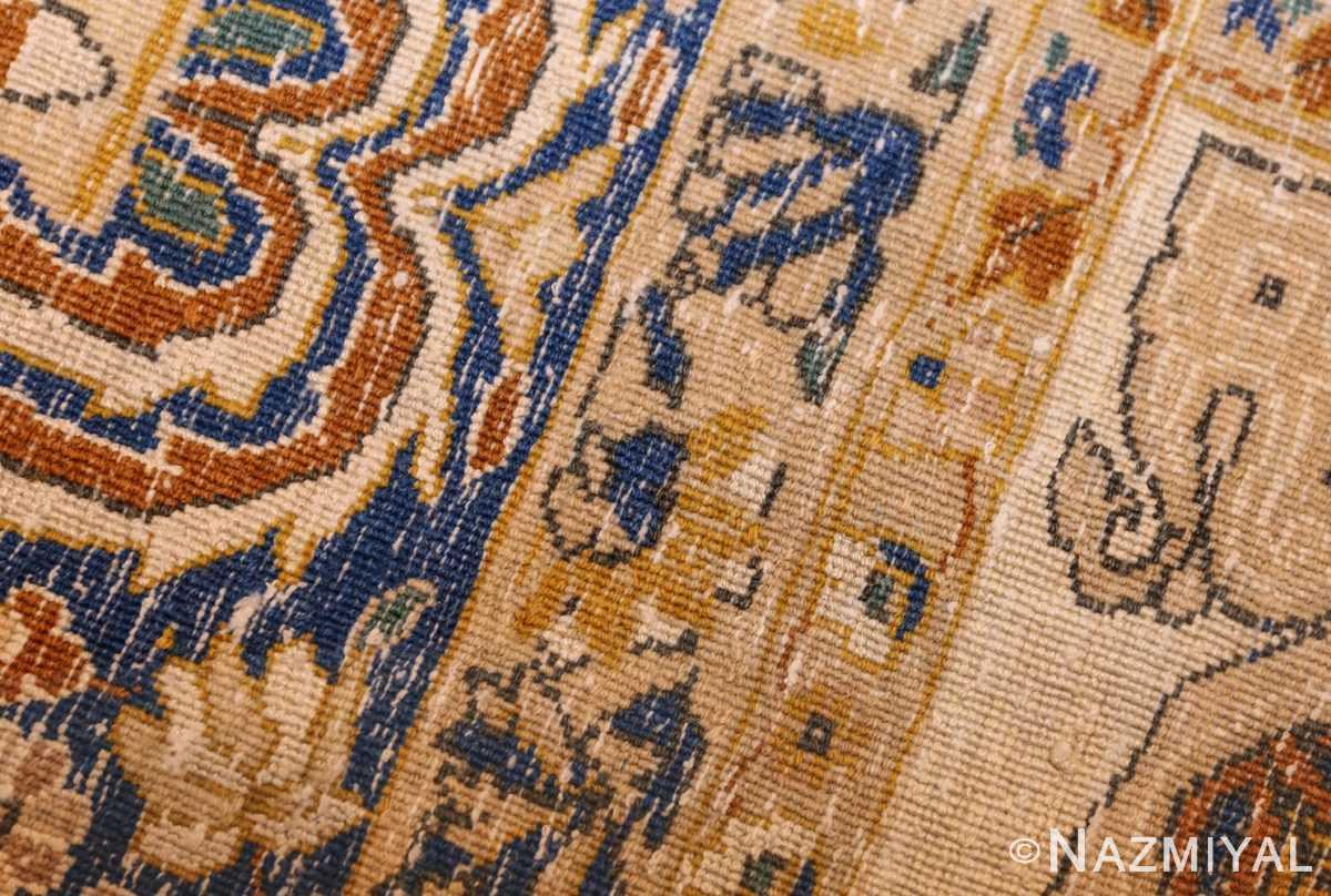 vintage mid century indian rug 45166 weave Nazmiyal