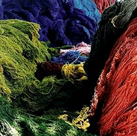 Wool is used for Persian silk carpets
