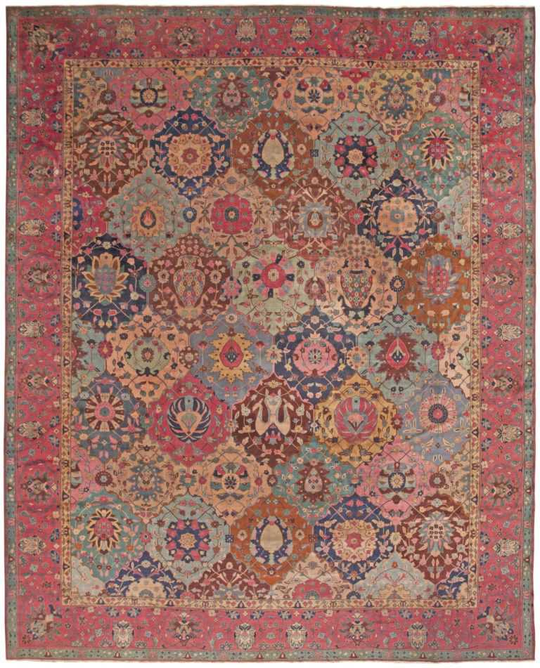 Antique Indian Rug 45206 Detail Large View