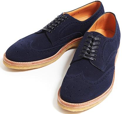 Hiroshi Tsubochi Navy Brogues Shoes