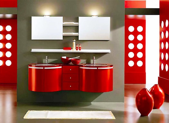 Fall Red and White Interior Design Nazmiyal