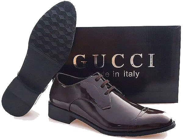 Gucci Men's Italian Leather Oxford Shoes - Nazmiyal