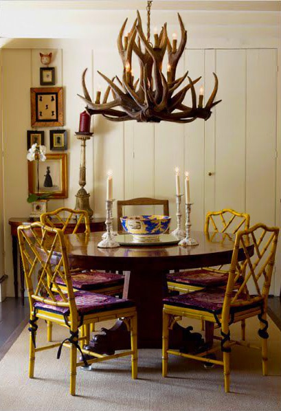 Home Decorating with Vintage Antler Chandeliers By Nazmiyal