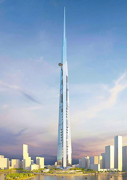 Kingdom Tower Tallest Building in The World Riyadh Saudi Arabia - Nazmiyal
