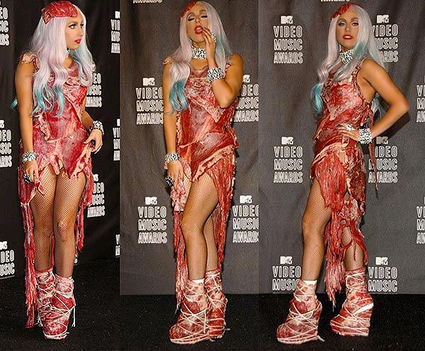 Meat Dress by Lady Gaga Fashion Line - Nazmiyal