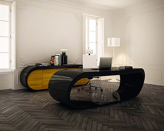 Modern Home Office Design by Nazmiyal
