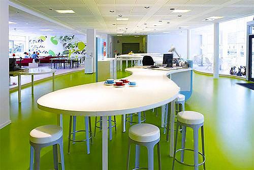Modern Office Breakfastroom Decor by Nazmiyal