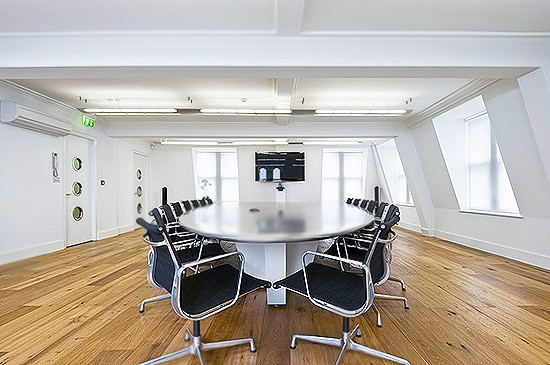 Modern Office Conference Room Design by Nazmiyal