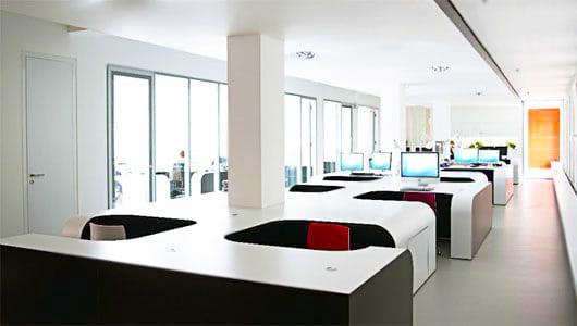 Modern Office Interior by Nazmiyal