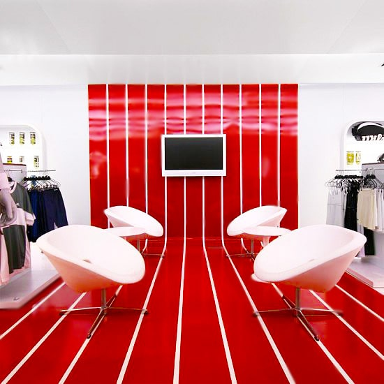 Red and White Commercial Store Interior Design For Fall Nazmiyal