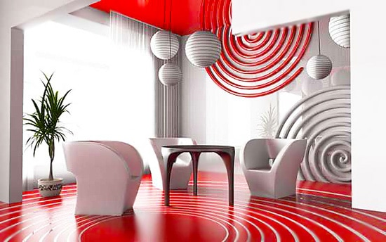 Red and White Interior Decor for Fall Nazmiyal