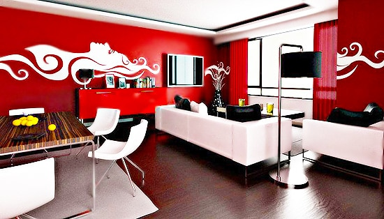 Red Black and White Interior Design Color Trends Nazmiyal