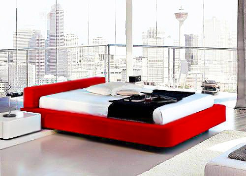 Red White and Black Luxury Bedroom Home Design For Fall Nazmiyal