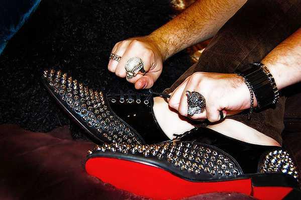 Spike Studded Christian Louboutin Shoes by nazmiyal