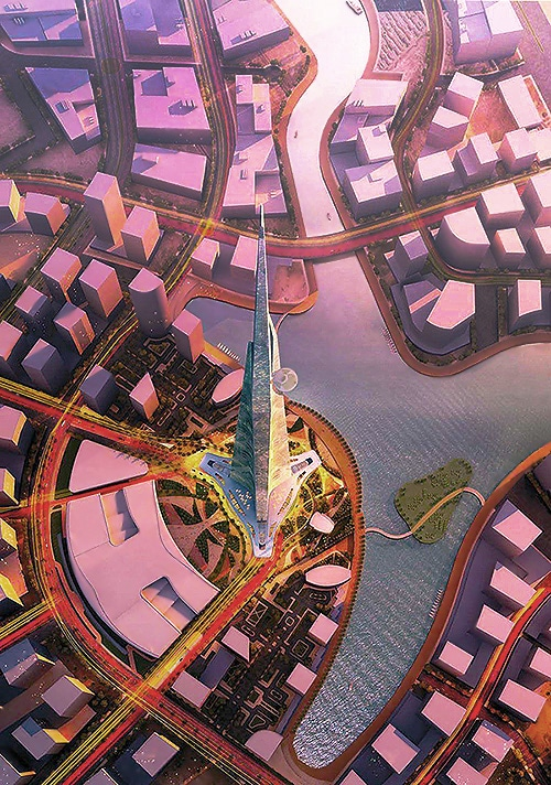 Tallest Building in The World Kingdom Tower in Riyadh Saudi Arabia - Nazmiyal