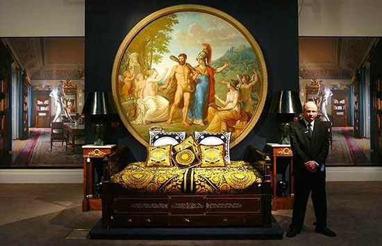 Versace Bed At Sothebys Auction House by Nazmiyal